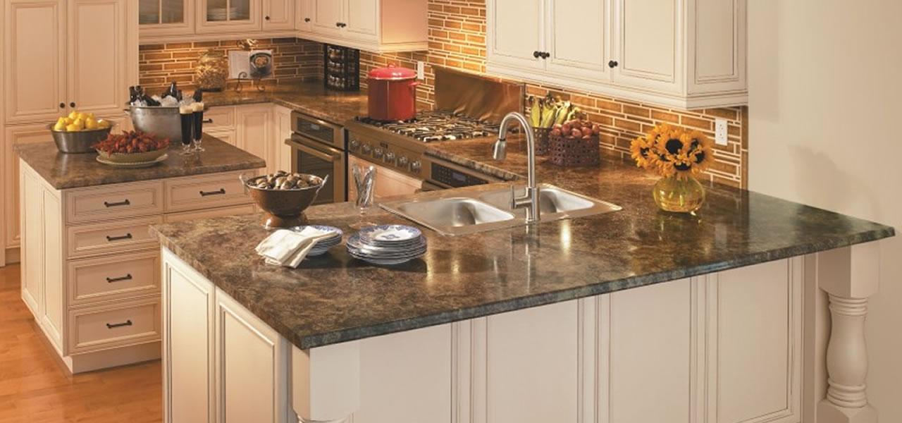 Atractivo Muebles De Cocina Con Sobres De Color Gris Negro ...